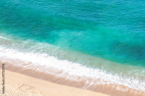 Canvas Prints Countryside Wave on the sand beach background