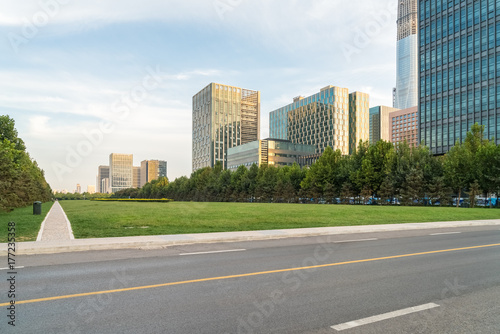 Fototapeta Scena drogowego miasta w Tianjin