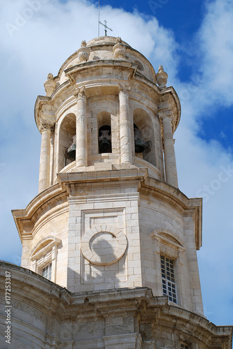 Plakat Wieża katedry Cadiz, Cadiz, Hiszpania