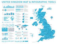 United Kingdom Map - Info Grap...