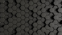 Green Honeycomb Hexagon