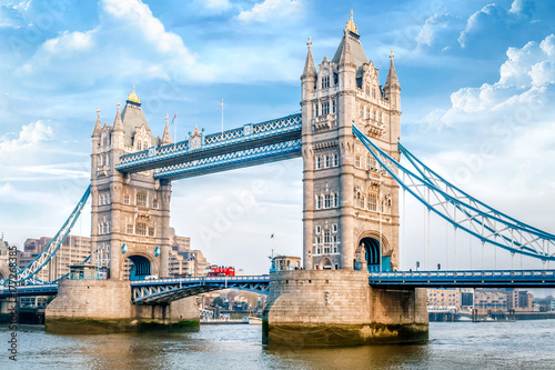 Poster Londen London Tower Bridge am Tag