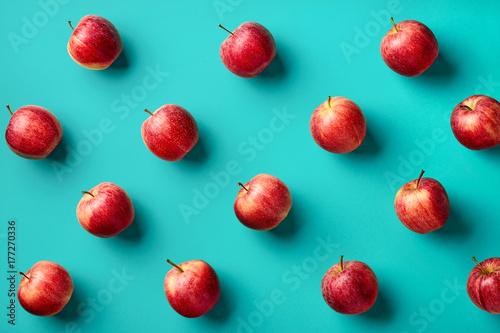 Valokuvatapetti Colorful pattern of apples