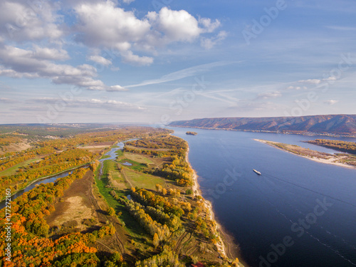 Foto op Canvas Herfst river fall height.