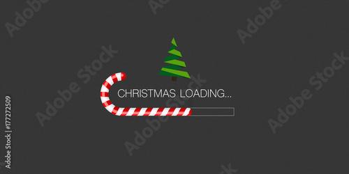 Stampa su Tela Weihnachten Laden mit Zuckerschnecke und Weihnachtsbaum