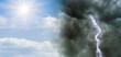 Leinwandbild Motiv Klimawandel Wetterumschwung Sonnenschein und Gewitter - Climate change Weather Changing Sunshine and thunderstorm