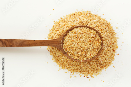 Wheat germ in spoon