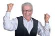 Senior man in eyeglasses posing