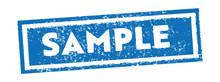 Blue Square Sample Rubber Stam...