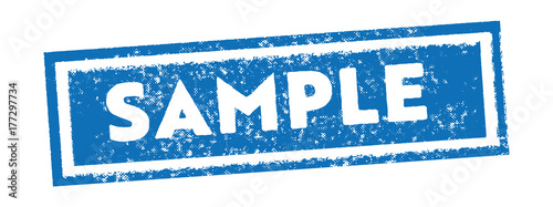 blue square sample rubber stamp and icon Tapéta, Fotótapéta