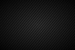 Dark abstract background, black and grey striped pattern, diagonal lines and strips, carbon fiber, vector illustration