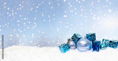 Zdjęcie XXL Boże Narodzenie niebieskie gwiazdy