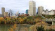 Timelapse of Edmonton downtown in autumn 4K