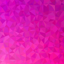 Geometric Abstract Triangle Tile Pattern Background - Polygon Vector Graphic From Colored Triangles In Pink And Purple Tones