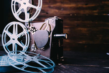 Retro 16mm Film Projector And ...