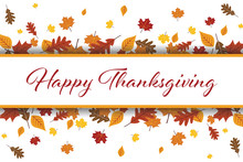Happy Thanksgiving Leaves Vector Illustration 1