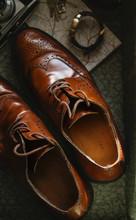 Men's Brown Vintage Brogue Sho...