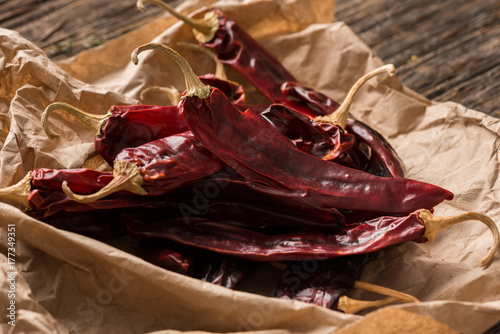 Staande foto Hot chili peppers Mexican Food Ingredient: Guajillo Chile Pepper
