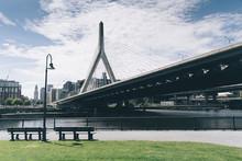 View Of Zakim Bridge Over Charles River