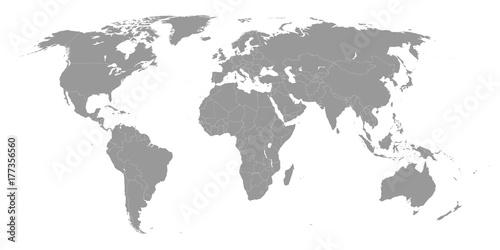 Foto op Aluminium Wereldkaart world map