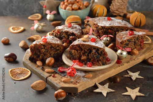 Plakat Ciasto owocowe świąteczne