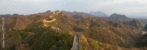 Stickers pour portes Muraille de Chine Great Wall, Jinshanling, Beijing, China