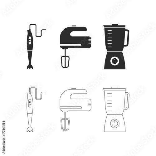 kitchen mixer, Kitchen tools, shaker,  whisk, food processor, smoothie maker, mi Canvas Print