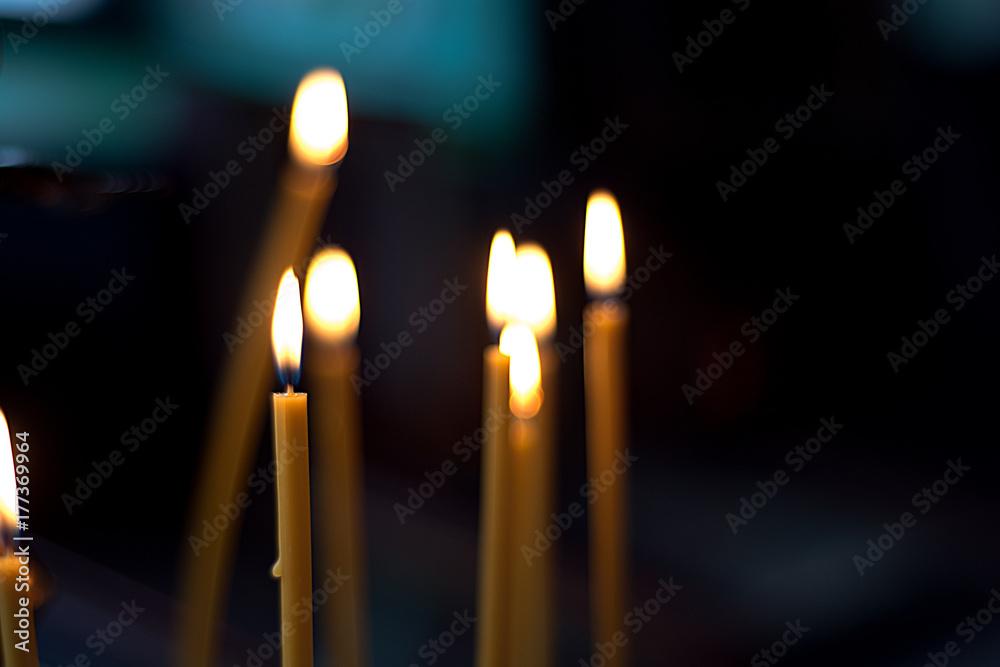 Fototapety, obrazy: Church candles