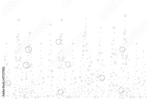 Realistic fizzing air bubbles, effervescent water on white background Canvas-taulu