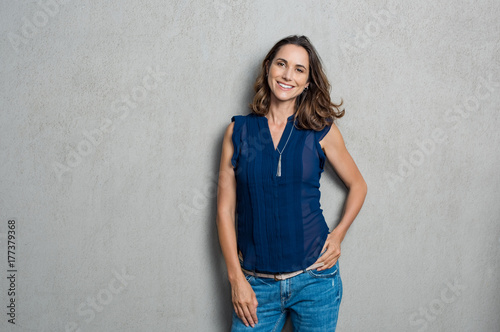 Fotografie, Obraz  Smiling mature woman