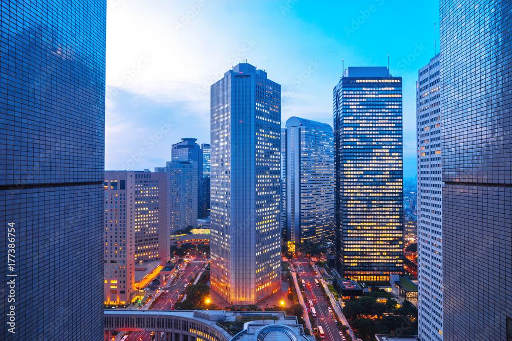 Fototapety, obrazy: modern buildings in midtown of modern city