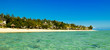 Panoramic view of Mauritius island landscape