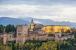 Alhambra of Granada from the viewpoint of Saint Nicholas
