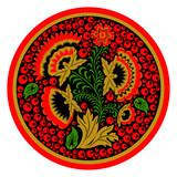 Rosyjska taca w stylu etnicznym Hohloma - 177394141