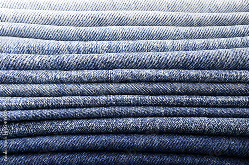 Canvas-taulu background pile of denim fabric texture