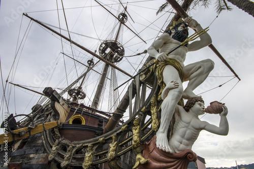 The Neptune, a ship replica of a 17th-century Spanish galleon built in 1985 for Roman Polanski's film Pirates Canvas