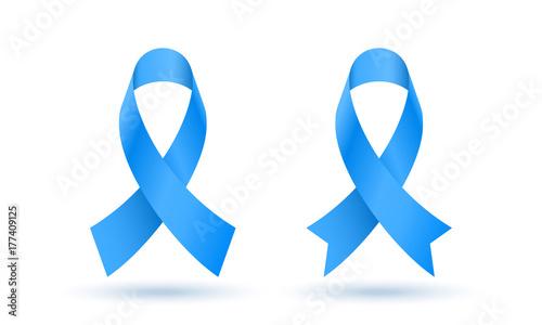 Photo  November awareness month blue ribbon symbols for men health against prostate cancer campaign