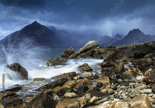 Plakat Elgol Seascape, Wyspa Skye, Szkocja