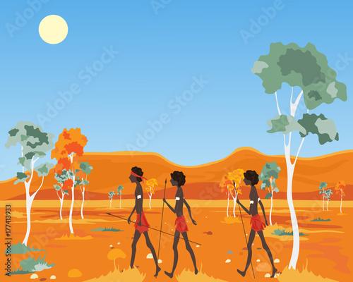 outback aborigine Wallpaper Mural
