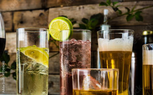 Foto op Canvas Bar お酒