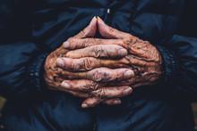 Hands Of A Senior Man