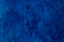 Background Of The Plastered Texture With Marble Effect Blue Colog. Artistic Background Handmade