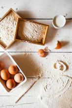 Prepareing Ingedients For Baking Pretzels.