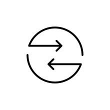 Modern Exchange Line Icon.