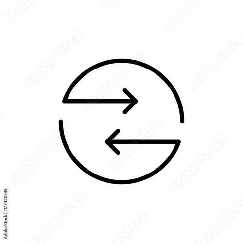 Fototapeta Modern exchange line icon. obraz