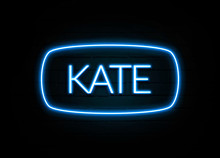 Kate  - Colorful Neon Sign On ...