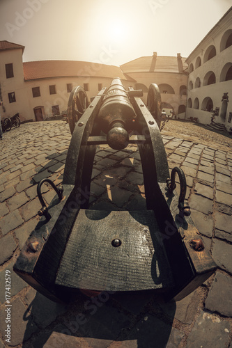 Plakat Stara żelazna armata w Palanok Castle, Mukacheve