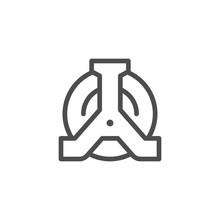 Wheel Clamp Line Icon
