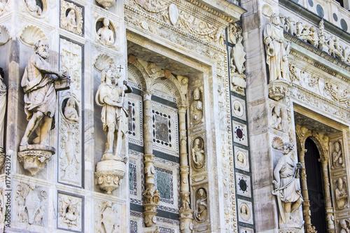 Plakat Certosa di Pavia, klasztor i kompleks w Lombardii, północne Włochy, położony 8 km na północ od Pawii. Zbudowany w latach 1396-1495, jeden z największych klasztorów we Włoszech