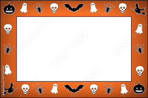 Marco naranja de Halloween - Buy this stock illustration and explore ...